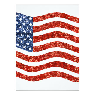 sequin american flag card