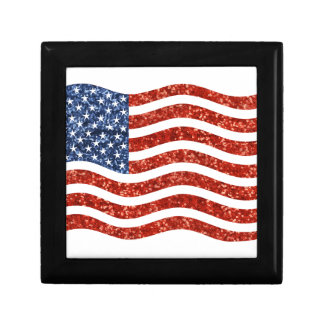 sequin american flag gift box