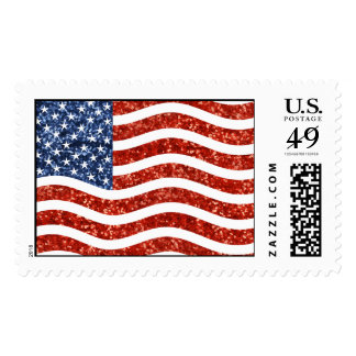 sequin american flag postage