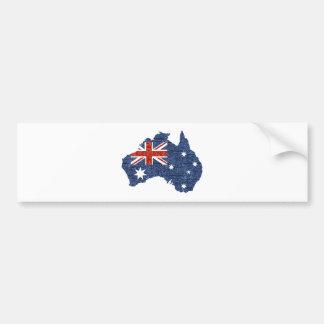 sequin australian flag bumper sticker