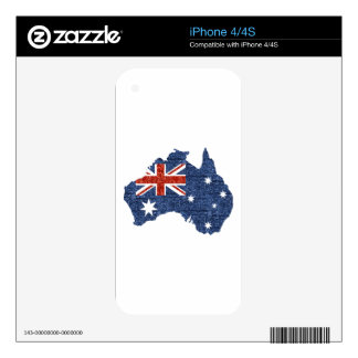 sequin australian flag decal for the iPhone 4S