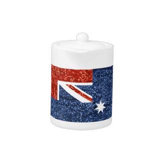 sequin australian flag teapot