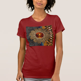 Sequin Beads Sun Buddha Tshirts