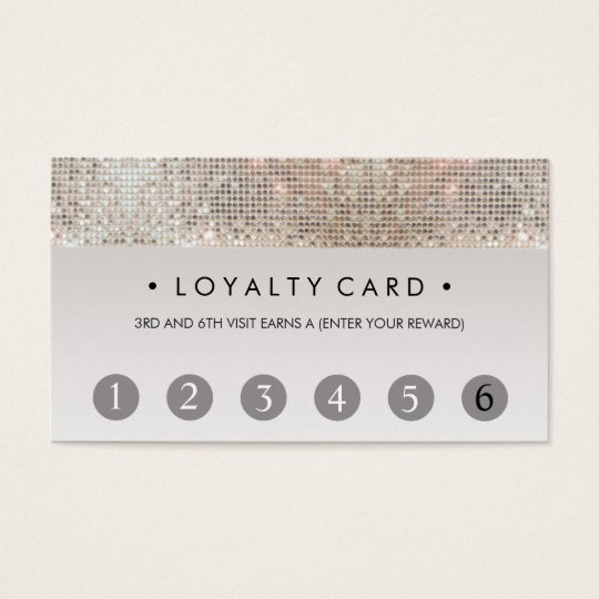 Sequin Beauty Salon 6 Punch Customer Loyalty Card Zazzle