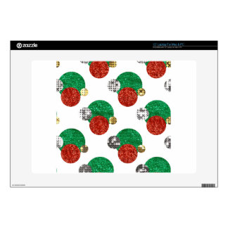 sequin christmas dots skin for laptop