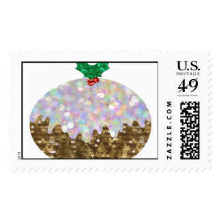 sequin christmas puddings postage
