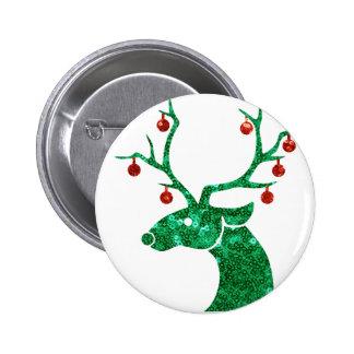 sequin christmas reindeer button