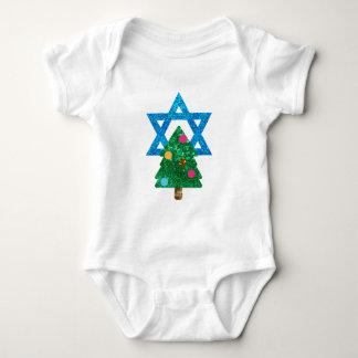 sequin christmukkah hanukkah baby bodysuit