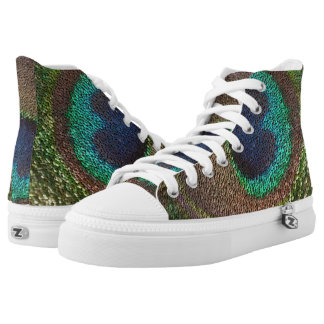 sequin design peacocks feather High-Top sneakers