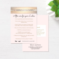 Business card templates for beauty and cosmetics professionals for Eyelash extension gift certificate template