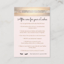 Sequin Eyelash Extensions Aftercare Instructions Referral Card