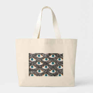 sequin eyes large tote bag