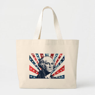 sequin george washington large tote bag
