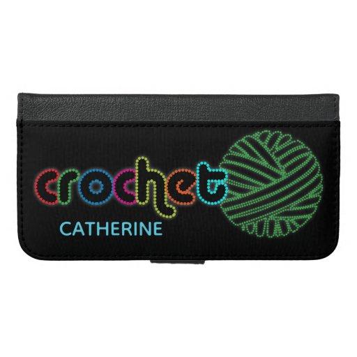 Sequin Glow Crochet iPhone 6/6s Plus Wallet Case