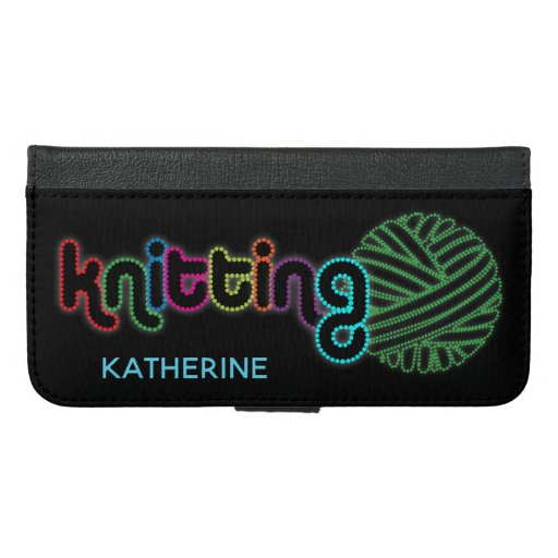 Sequin Glow Knitting iPhone 6/6s Plus Wallet Case