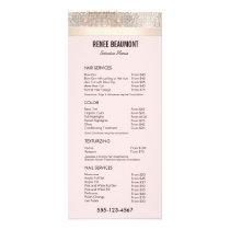 Sequin Gold Pink Salon Price List Service Menu