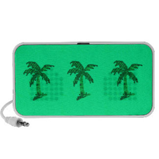 Sequin Grunge Palm Tree Image Portable Speaker