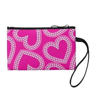 Sequin hearts change purse