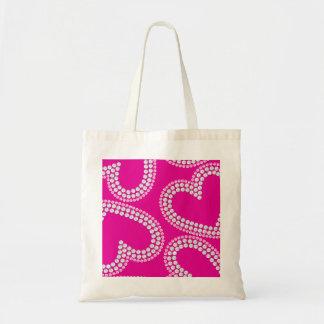 Sequin hearts tote bag