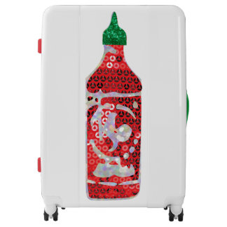 sequin hot sauce luggage