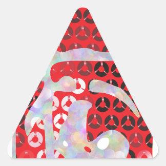 sequin hot sauce triangle sticker