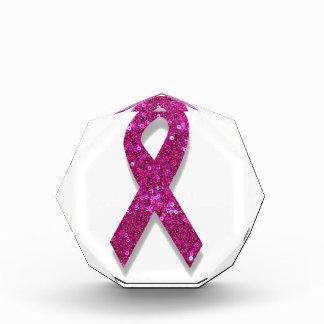 sequin pink breast cancer awareness award