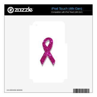 sequin pink breast cancer awareness decals for iPod touch 4G