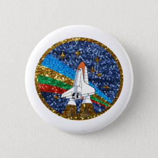 sequin space ship button