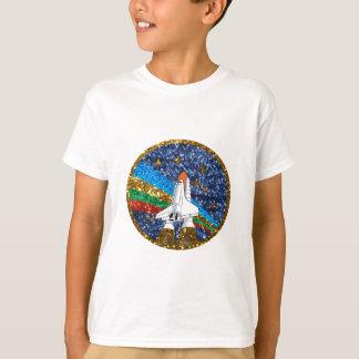 sequin space ship T-Shirt