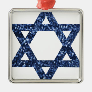 sequin star of david metal ornament