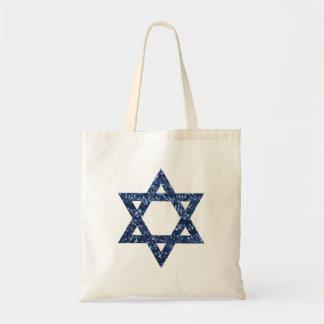 sequin star of david tote bag