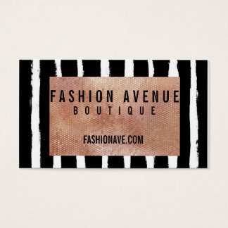 Sequin & Stripe Business Card- Rose Gold Business Card