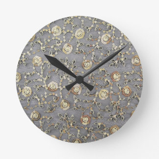 SEQUINE-EMBROIDERY ROUND CLOCK