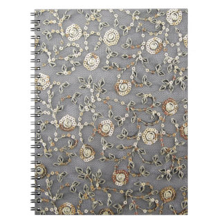 SEQUINE-EMBROIDERY SPIRAL NOTEBOOK