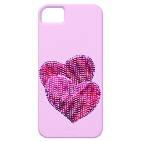 sequined hearts iphone 5 case