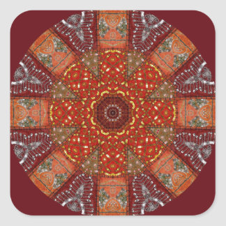Sequined Tapestry 2 Square Stickers