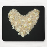 Sequins and Beads Heart Mouse Pad