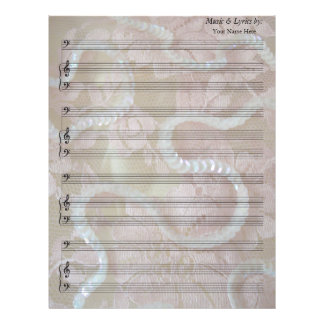 Sequins and Lace  Blank Sheet Music Bass Clef Letterhead Design