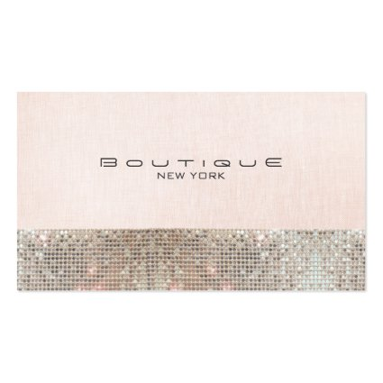 Sequins and Linen Pink Boutique *NOT REAL SEQUINS Business Card Template