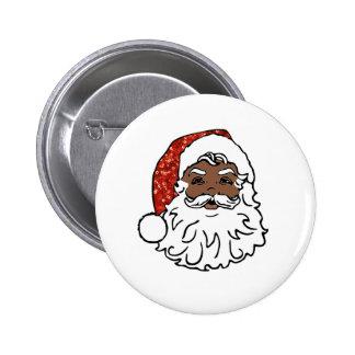 sequins black santa claus button