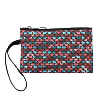 sequins change purse