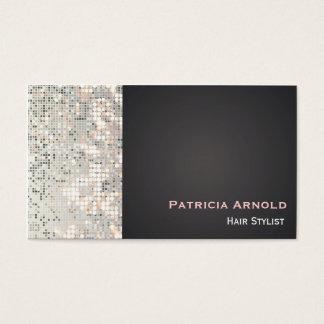 Sequins Glitter Glam Glitzy Black Business Card