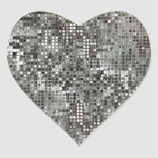 Sequins Heart Sticker