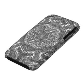 Sequins kaleidoscope effect silver iPhone 3 Case-Mate case