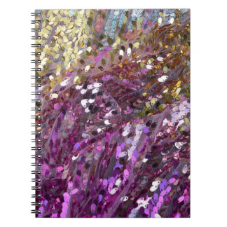 Sequins Rainbow Color Sparkle Jewel Notebook