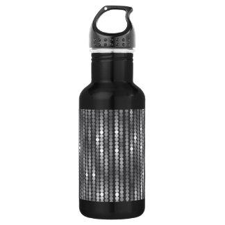 Sequins Silver 18 oz. Black Water Bottle