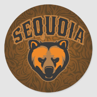 Sequoia Bear Face Classic Round Sticker