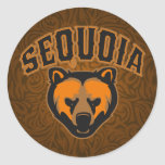 Sequoia Bear Face Logo Classic Round Sticker
