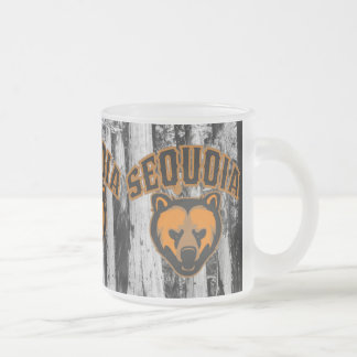 Sequoia Bear Face Logo Frosted Glass Coffee Mug