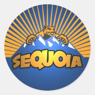 Sequoia Bear Mountain Classic Round Sticker
